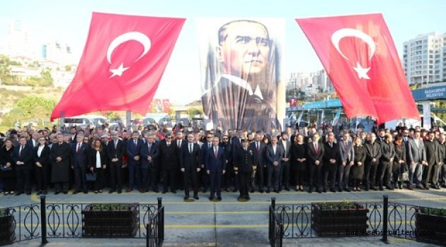 Atatürk Başakşehir'de saygıyla anıldı