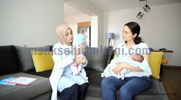 Başakşehir'de anneler de bebekler de mutlu
