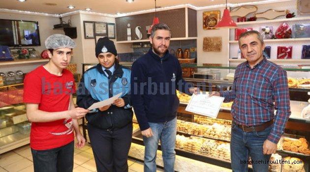 Başakşehir'de dükkanlara hijyen sertifikası